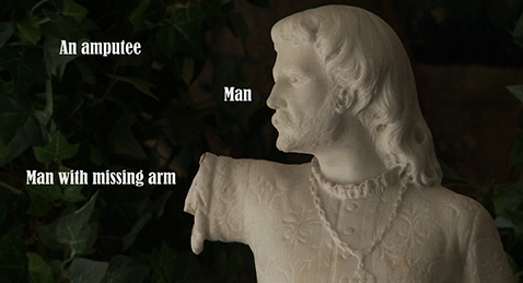 Still image of a statue from the film A Strange New Beauty.