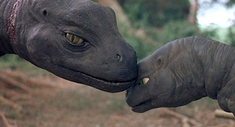 Image of two dinosaurs from the film Baby: Secret of the Lost Legend.