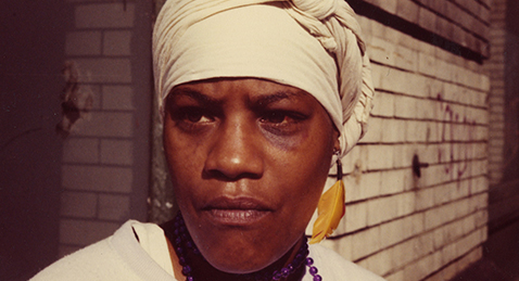Still image of a women from the film Born in Flames.