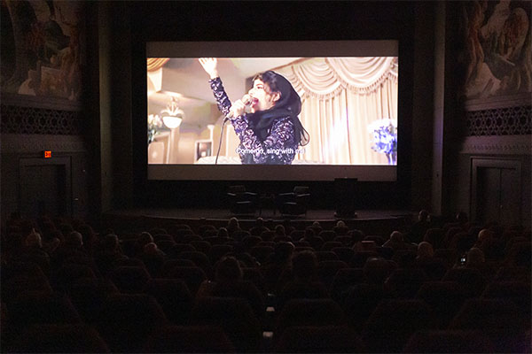 Haifaa al-Mansour's film The Perfect Candidate plays on screen at IU Cinema.