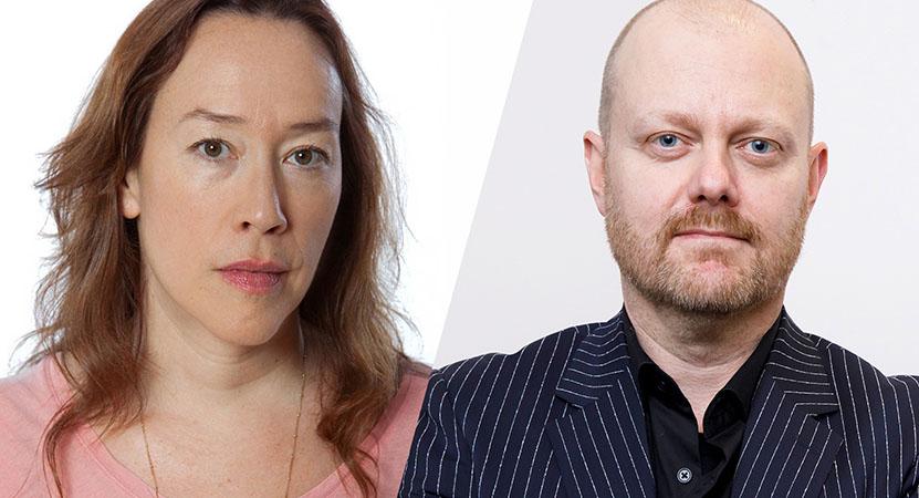Still image from Filmmaker to Filmmaker: Karyn Kusama and Alexandre O. Philippe.