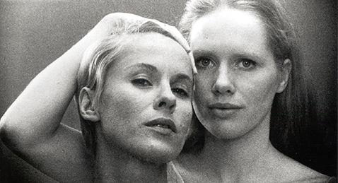 Still image of two women from the film Persona.