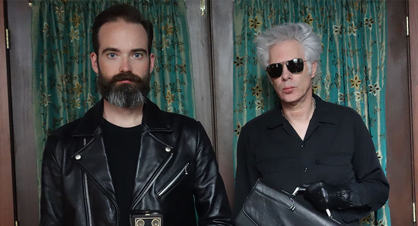 Jim Jarmusch and Carter Logan pose for a photo
