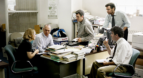 Still image from Spotlight.