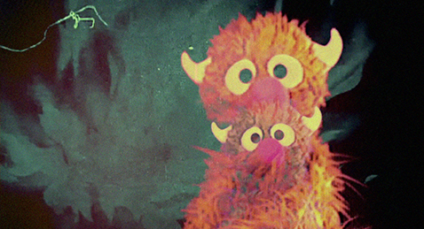 Still image of muppets from the The Creature of Yes Workshop.