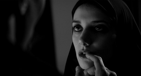Still image from A Girl Walks Home Alone at Night.