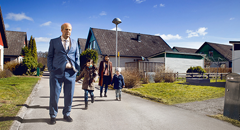 Still image from A Man Called Ove.