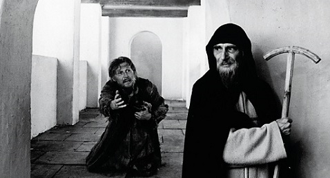 Still image from Andrei Rublev.