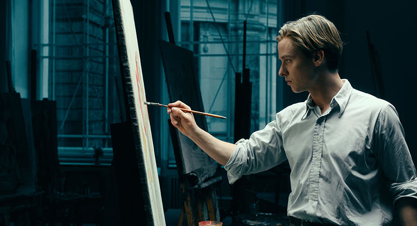 a man paints from the film Never Look Away