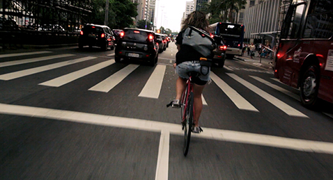 Still image from Bikes vs Cars.