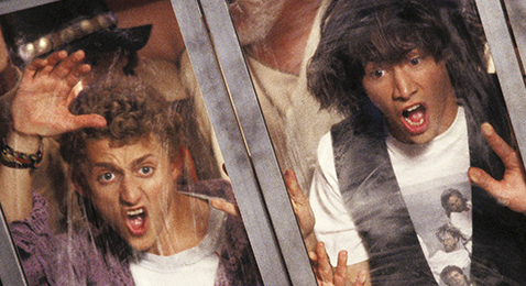 Still image from Bill and Ted's Excellent Adventure.