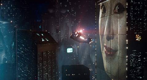Still image from Blade Runner.