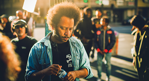 Still image from Boots Riley.