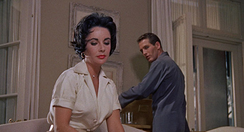 Still image from Cat on a Hot Tin Roof.