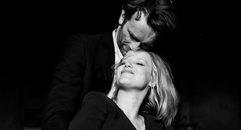 a man and women embrace from the film Cold War