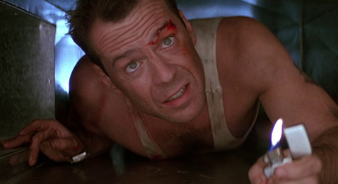 Still image from Die Hard.