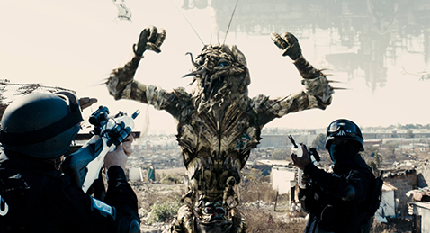 Still image from District 9.