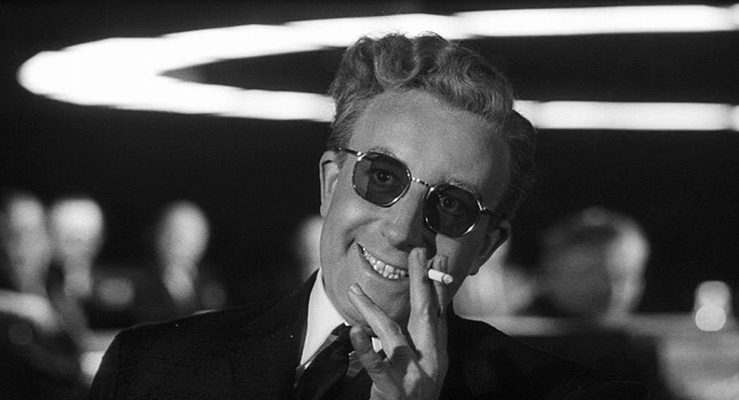 Still image from Dr. Strangelove or: How I Learned  to Stop Worrying and Love the Bomb.