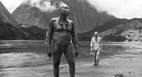 Still image from Embrace of the Serpent.