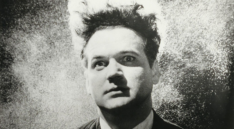 Image of a man with wild hair from the film Eraserhead