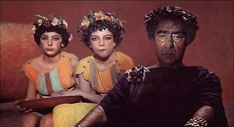 Still image from Fellini-Satyricon.