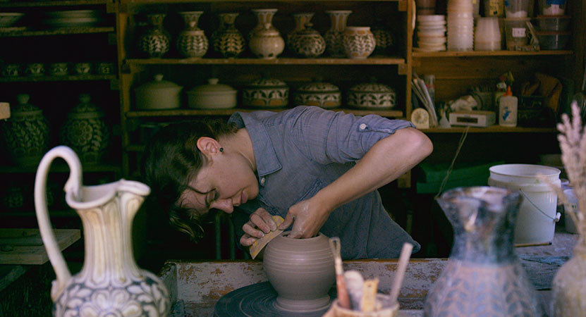 a women throws pottery from the film Henry Glassie: Field Work.
