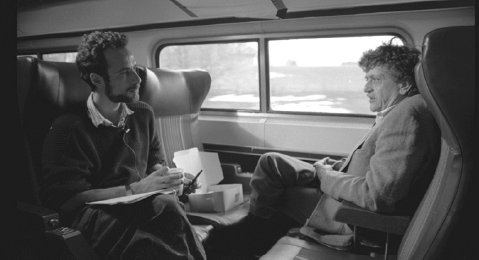 Still image from Filmmaker Robert B. Weide and the Making of Kurt Vonnegut: Unstuck in Time.