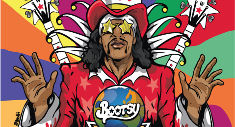 Still image from Funkology: A Conversation with Bootsy Collins and Dr. Scot Brown.