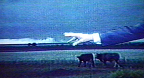 Still image from George Kuchar's Weather Diaries.
