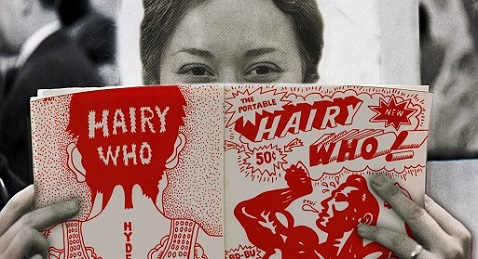 Still image from Hairy Who and the Chicago Imagists.