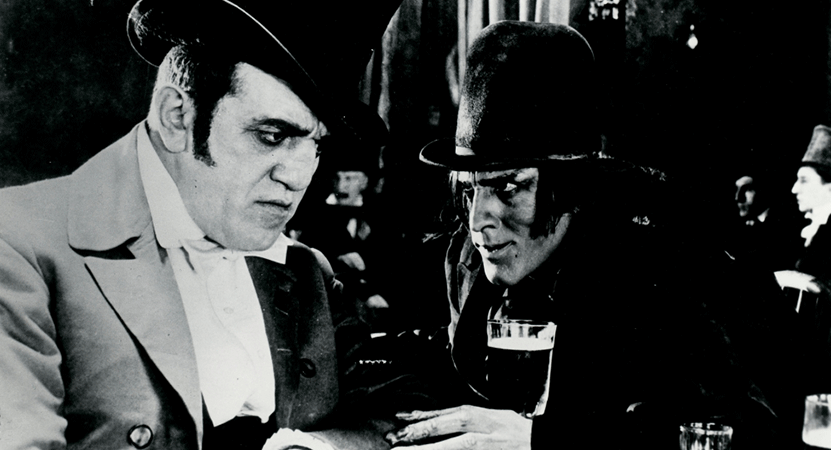 two men look at each other from the film Dr. Jekyll and Mr. Hyde