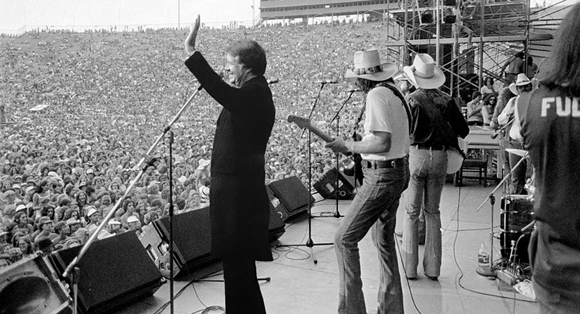 Still image from Jimmy Carter: Rock & Roll President.