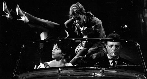 Still image from La dolce vita.