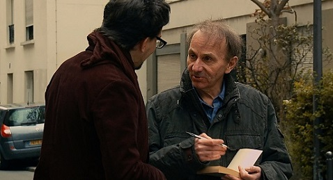 Still image from L'Enlèvement de Michel Houellebecq.