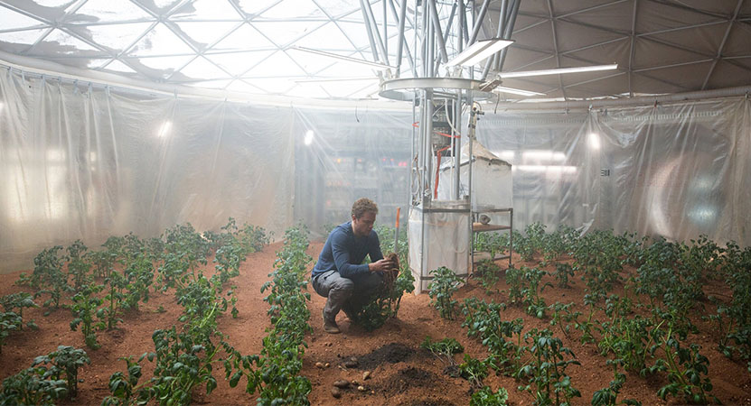 Still image from The Martian.