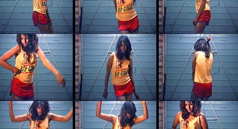 images of M.I.A dancing from the film Matangi / Maya / M.I.A.