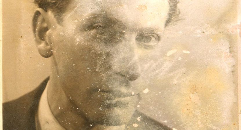 distressed photo of a man from the film Neither Memory Nor Magic