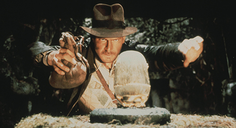 Still image from Raiders of the Lost Ark.
