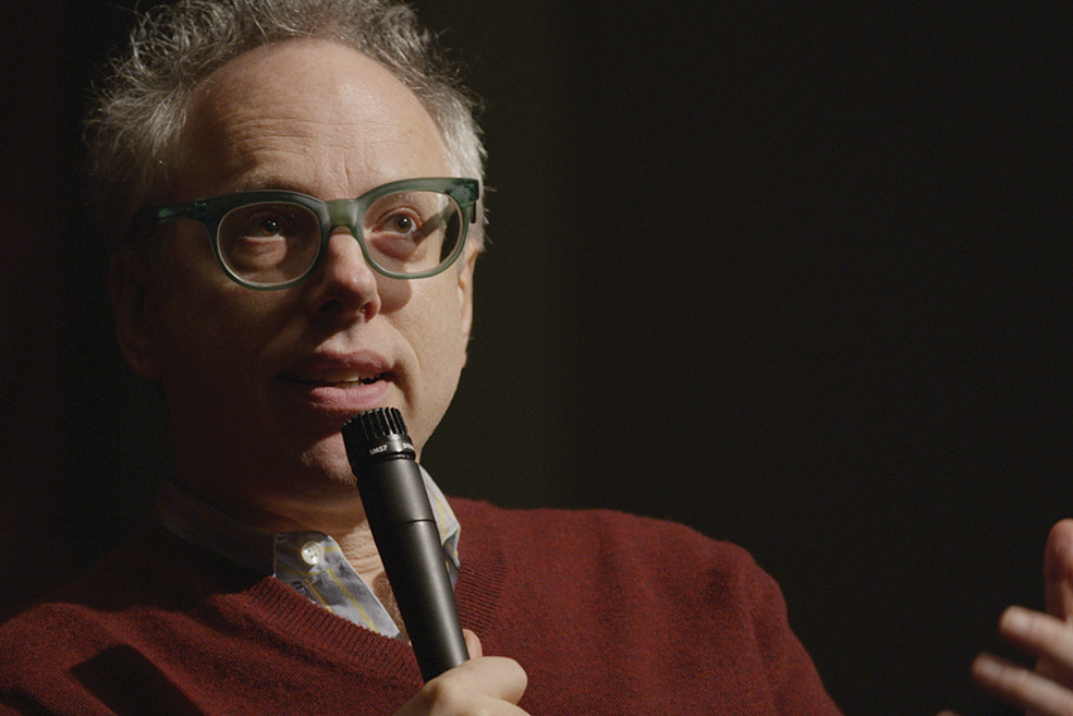 Todd Solondz onstage at IU Cinema.