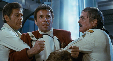 Still image from Star Trek II: The Wrath of Khan.