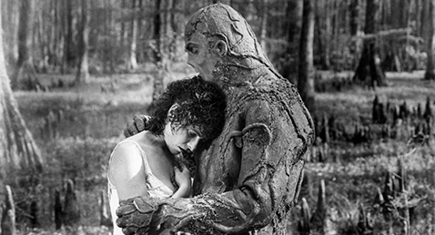 Still image from Swamp Thing.