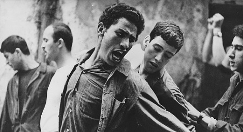 Still image from The Battle of Algiers.
