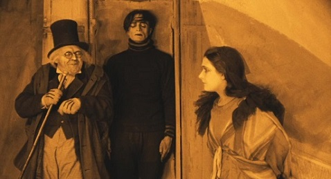 Still image from The Cabinet of Dr. Caligari.