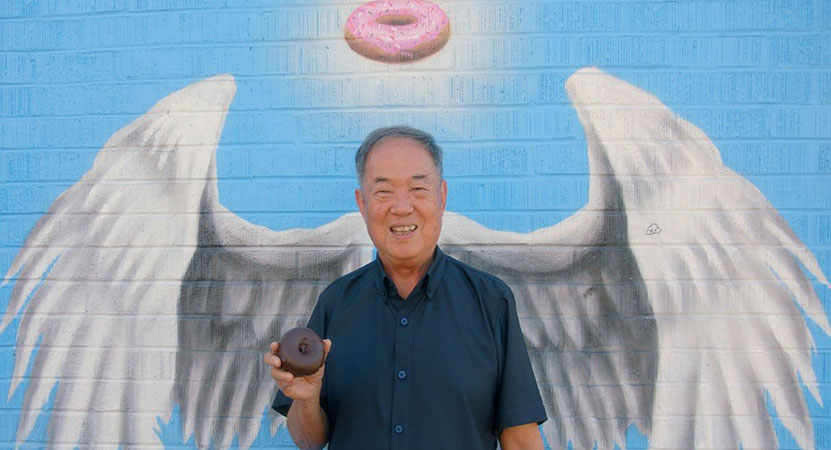 Still image from The Donut King.