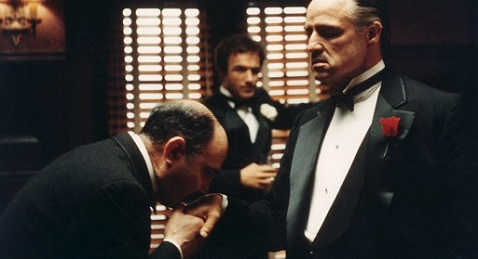 Still image from The Godfather.