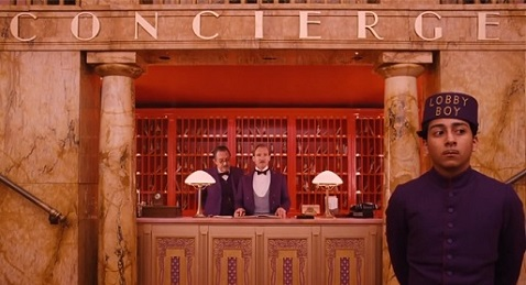 Still image from The Grand Budapest Hotel.