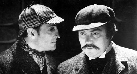 Still image from The Hound of the Baskervilles.