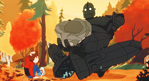 Still image from The Iron Giant.
