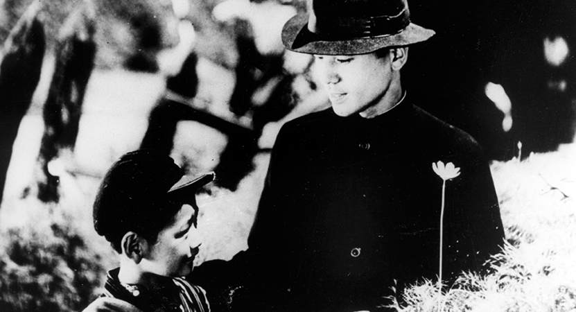 image of a father and son form the film The Only Son