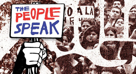Still image from The People Speak.